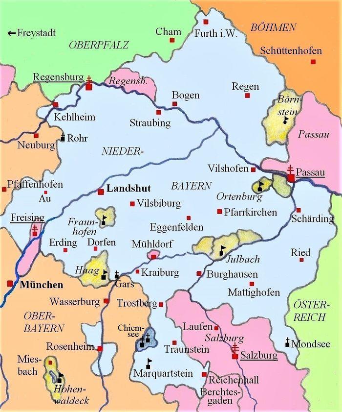 Karte 14 Jahrhundert Bad Reichenhall Wiki